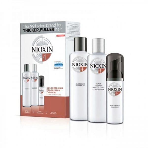 Nioxin KIT Σύστημα 4 (Σαμπουαν 150ml, Conditioner 150ml & Θεραπεια 40ml)